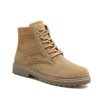 Fashion and Leisure Sports Trendy High Men's Boots - KHAKI KHAKI