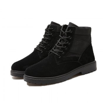 Fashion and Leisure Sports Trendy High Men's Boots - BLACK BLACK