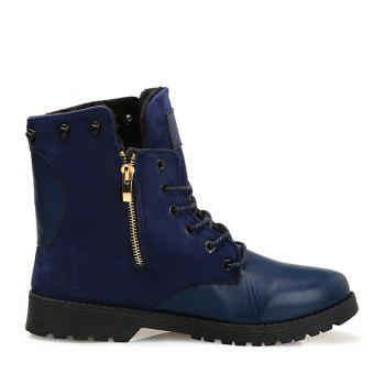 Martin Boots for Winter Style - BLUE 39