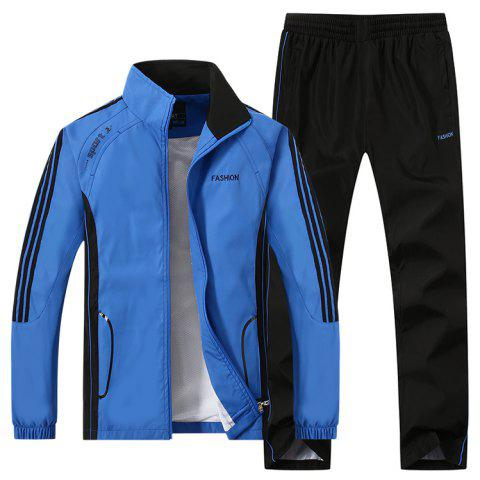 2017 New Thin Sports Suit - BLUE 5XL