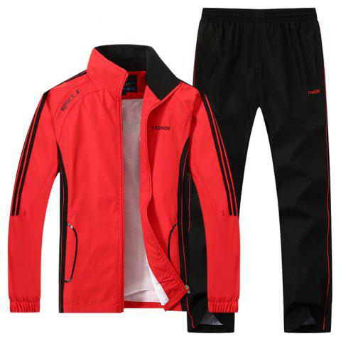 2017 New Thin Sports Suit - RED XL