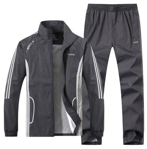 2017 New Thin Sports Suit - GRAY 4XL