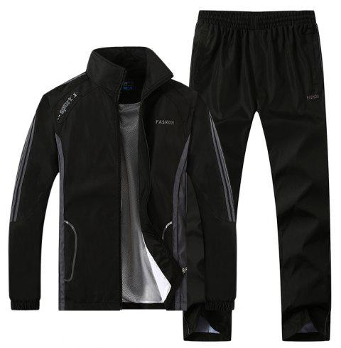 2017 New Thin Sports Suit - BLACK M