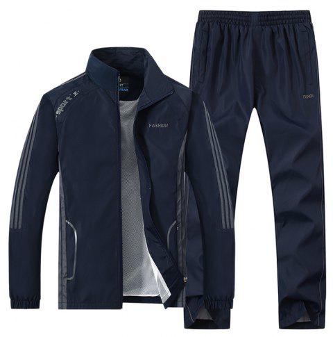 2017 New Thin Sports Suit - DEEP BLUE M