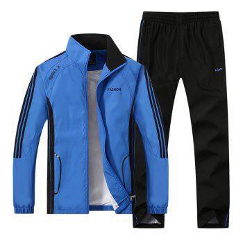 2017 New Thin Sports Suit - BLUE BLUE