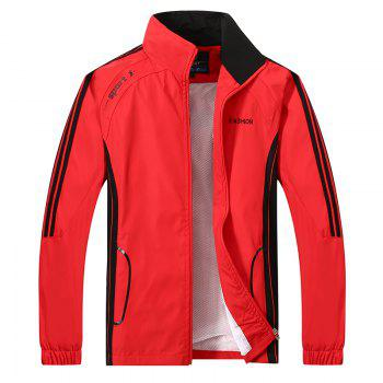 2017 New Thin Sports Suit - RED 5XL