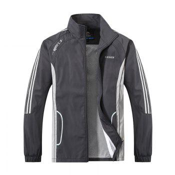 2017 New Thin Sports Suit - GRAY L