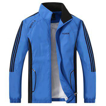 2017 New Thin Sports Suit - BLUE 4XL