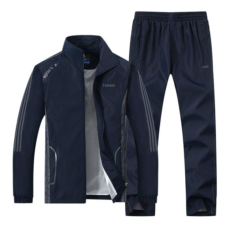 2017 New Thin Sports Suit - DEEP BLUE 5XL