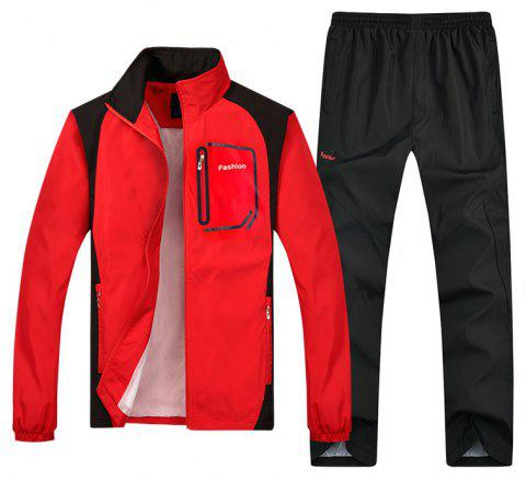 Fashion Sports Suit for Men - RED 3XL