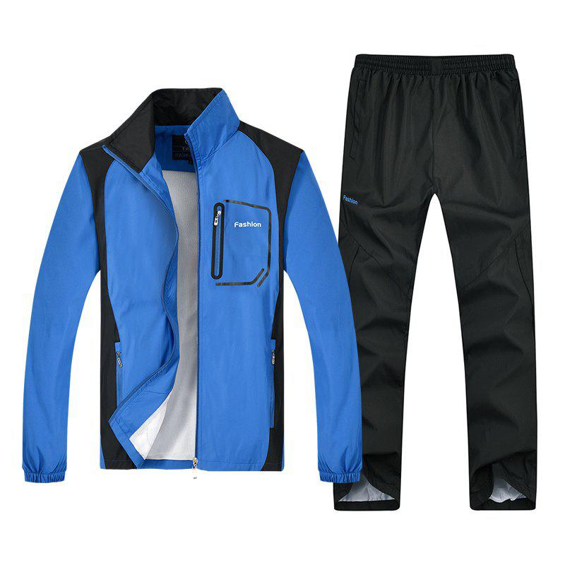 Fashion Sports Suit for Men - BLUE 2XL