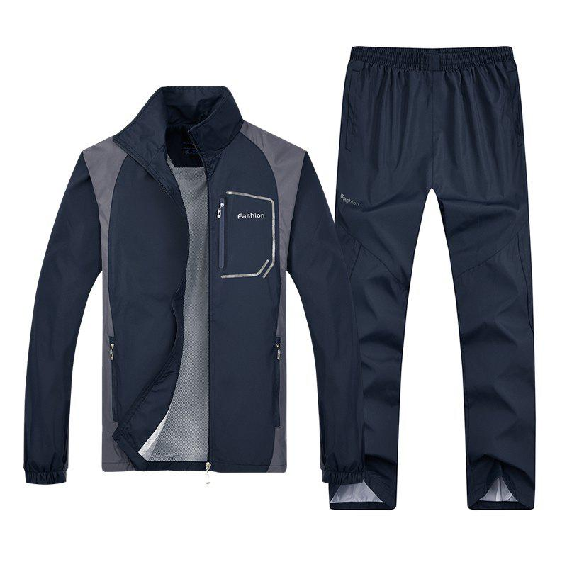 Fashion Sports Suit for Men - DEEP BLUE 5XL