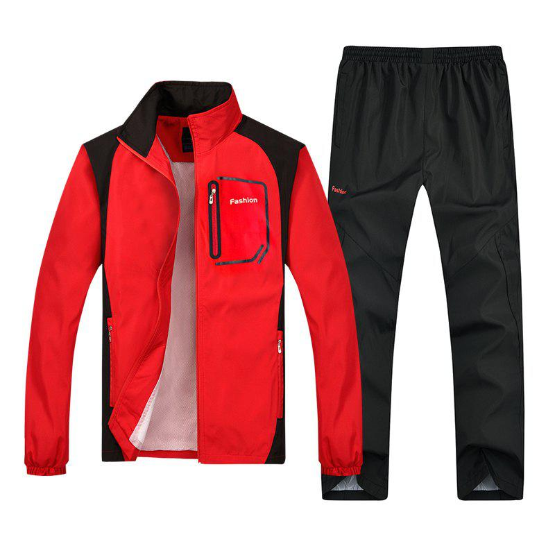 2018 New Sports Suit - RED 2XL