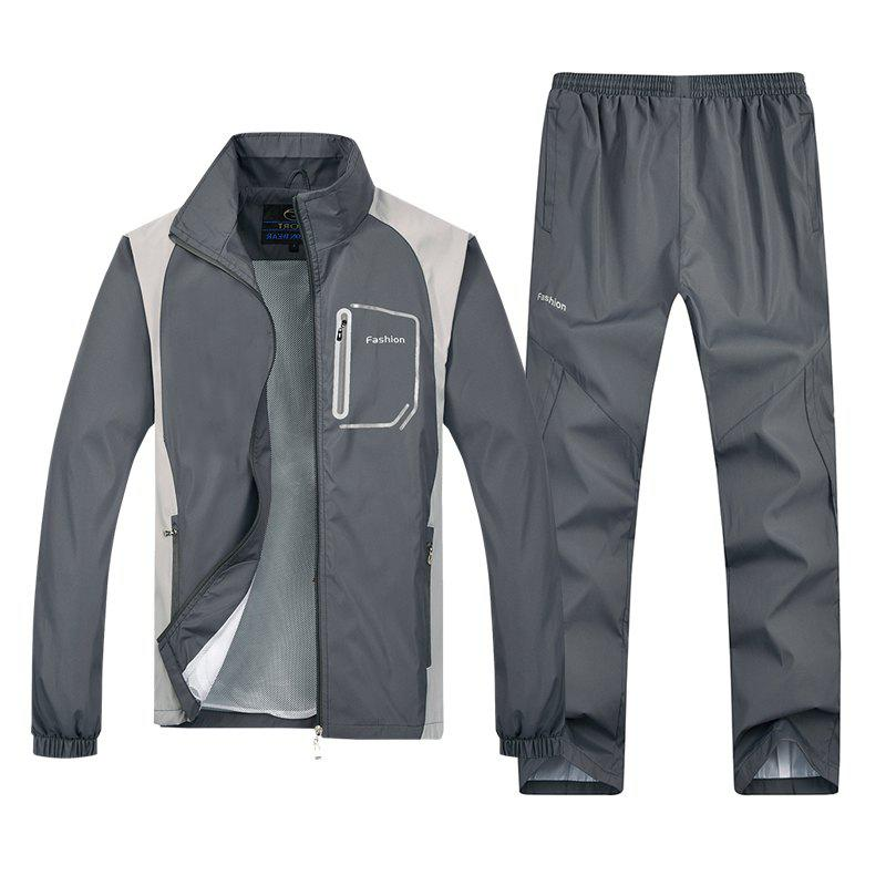 2018 New Sports Suit - GRAY 3XL