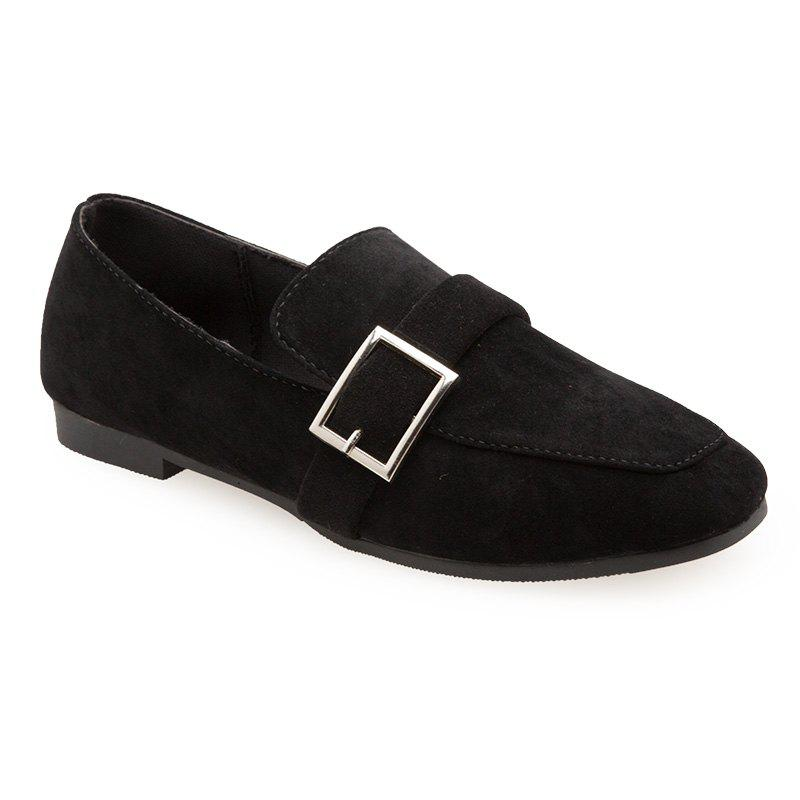 Fall New Cashmere Square Flat with A Single Shoe