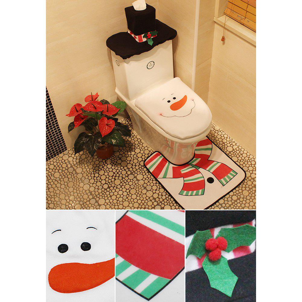 Christmas Snowman Toilet Decoration Set - COLORMIX SNOWMAN STYLE