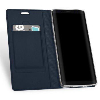 Luxury Leather Flip Wallet Book Cover for Samsung Galaxy Note 8 Case - BLUE