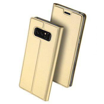Luxury Leather Flip Wallet Book Cover for Samsung Galaxy Note 8 Case - GOLDEN