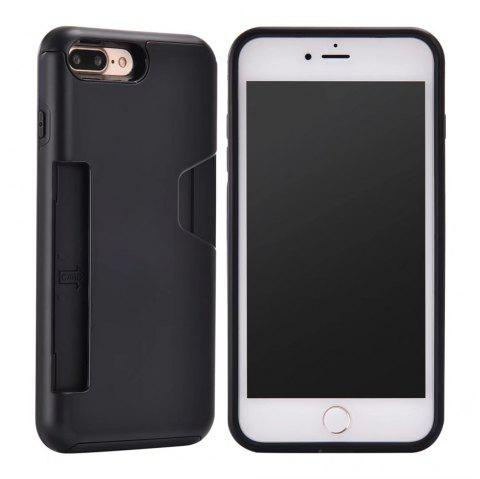 Heavy Duty Protection Dirt Proof Strong PC and TPU Phone Case For iPhone 7 Plus / 8 Plus - BLACK