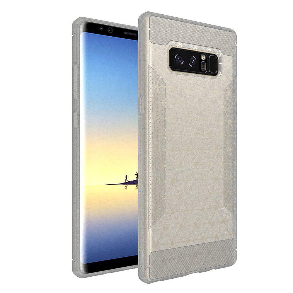 Silicone Case New Matte Brushed TPU Protective Cover for Samsung Galaxy Note 8 - WHITE