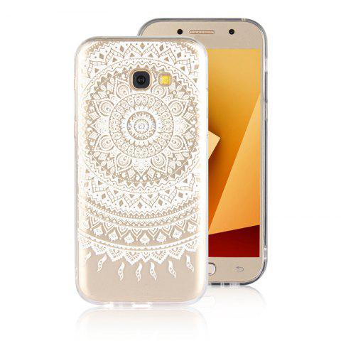 TPU Translucent Lace Case for Samsung Galaxy A7 2017 - WHITE