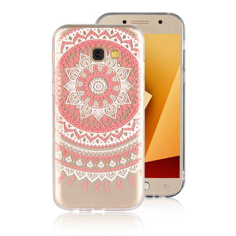 TPU Translucent Lace Case for Samsung Galaxy A7 2017 - RED