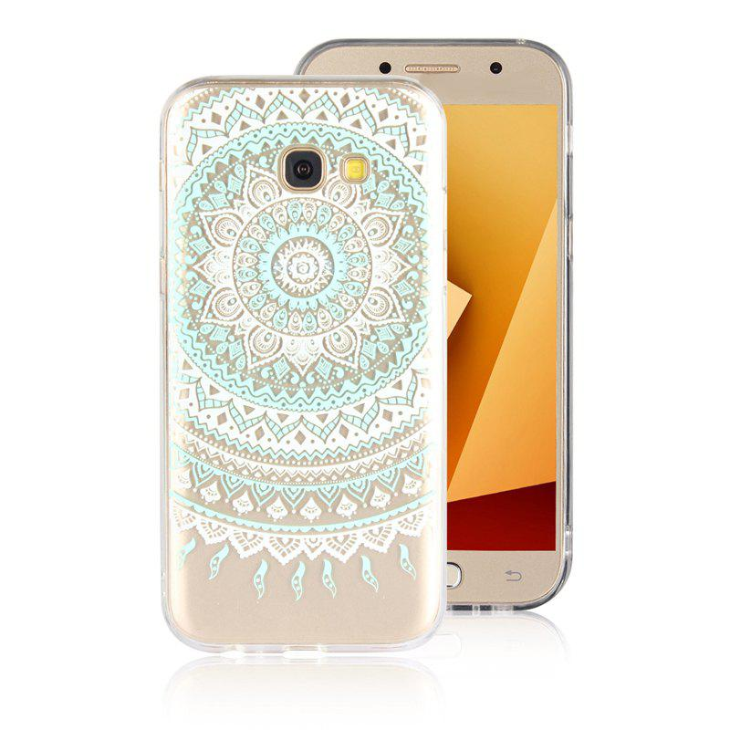 TPU Translucent Lace Case for Samsung Galaxy A7 2017 - GREEN