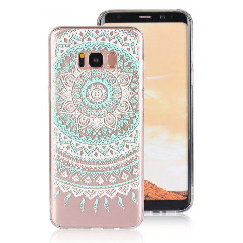 Translucent Lace TPU Case for Samsung Galaxy S8 Plus - GREEN