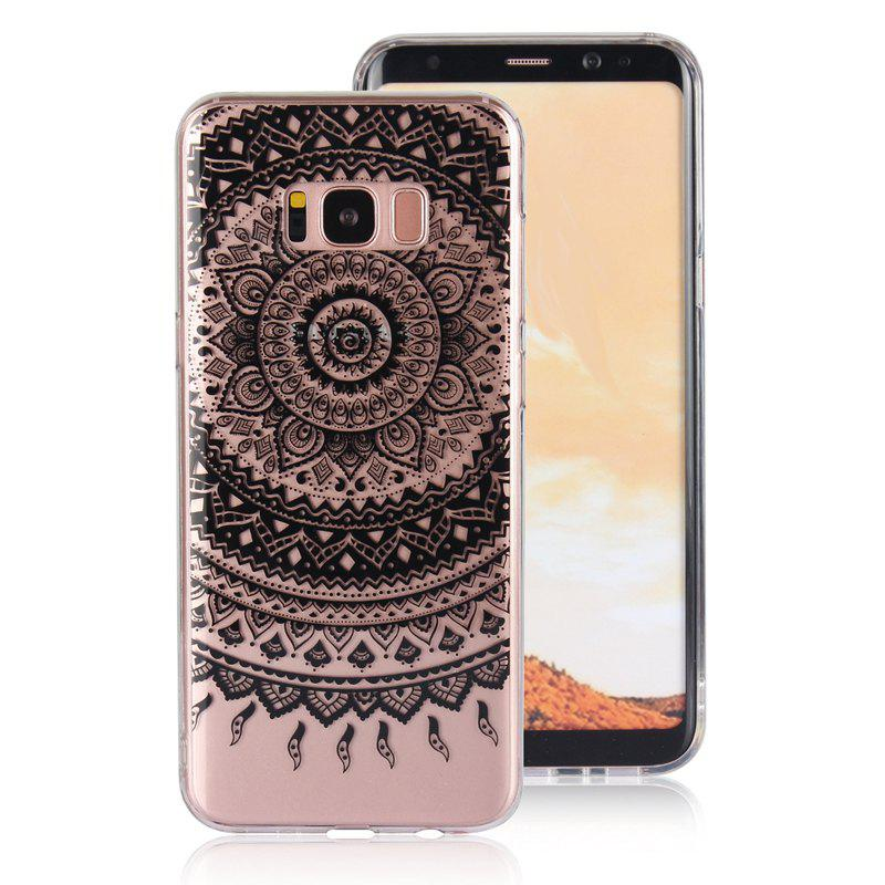 Translucent Lace TPU Case for Samsung Galaxy S8 Plus - BLACK