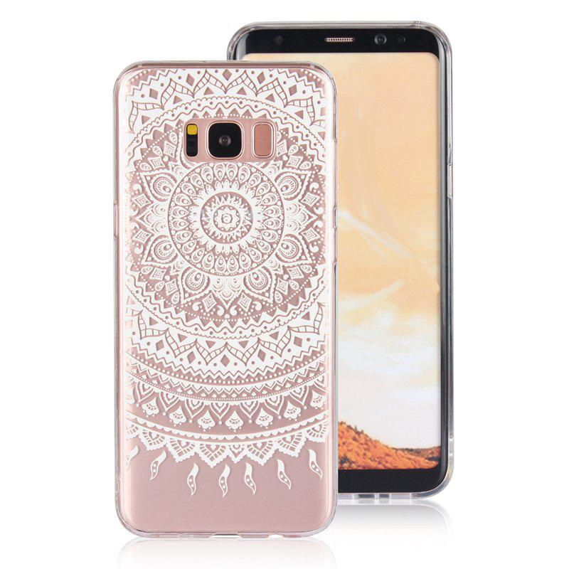 Translucent Lace TPU Case for Samsung Galaxy S8 Plus - WHITE
