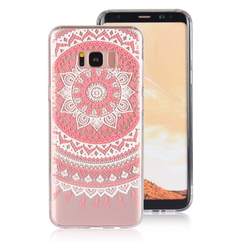 Translucent Lace TPU Case for Samsung Galaxy S8 Plus - RED