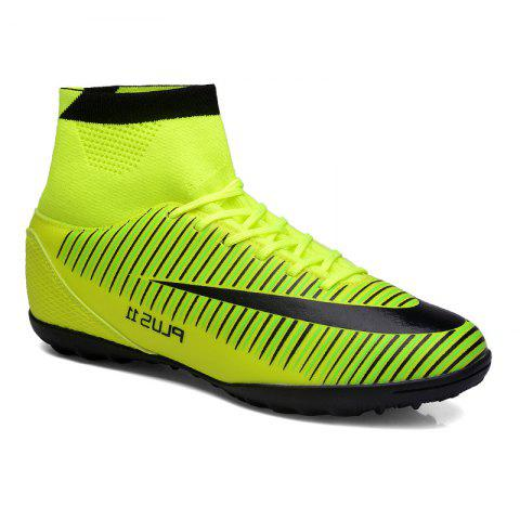 Men's Sports Shoes Color Block Lacing Fashion Football Shoes - GREEN 45