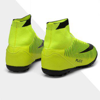 Men's Sports Shoes Color Block Lacing Fashion Football Shoes - GREEN 44