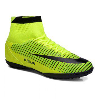 Men's Sports Shoes Color Block Lacing Fashion Football Shoes - GREEN GREEN