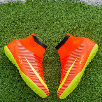 Men's Sports Shoes Color Block Lacing Fashion Football Shoes - JACINTH 38