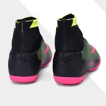 Men's Sports Shoes Color Block Lacing Fashion Football Shoes - BLACK BLACK