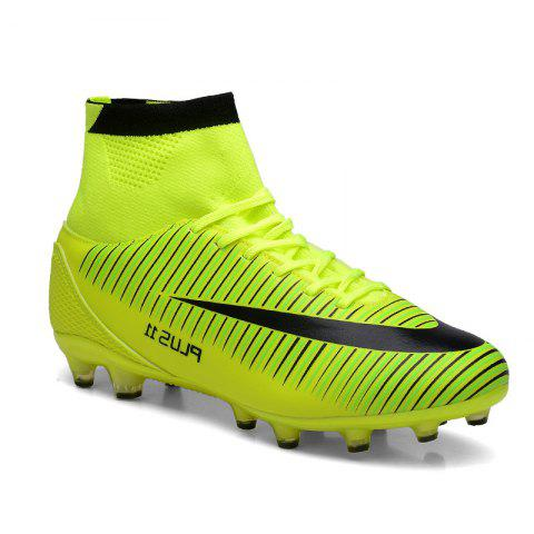 Men's Sports Shoes Color Block Comfort Breathable Leisure Football Shoes - GREEN 39