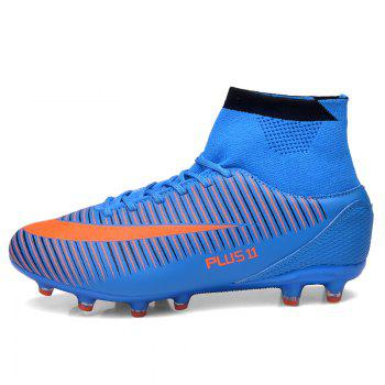 Men's Sports Shoes Color Block Comfort Breathable Leisure Football Shoes - BLUE 45