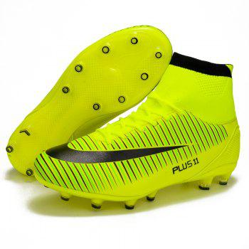 Men's Sports Shoes Color Block Comfort Breathable Leisure Football Shoes - GREEN GREEN