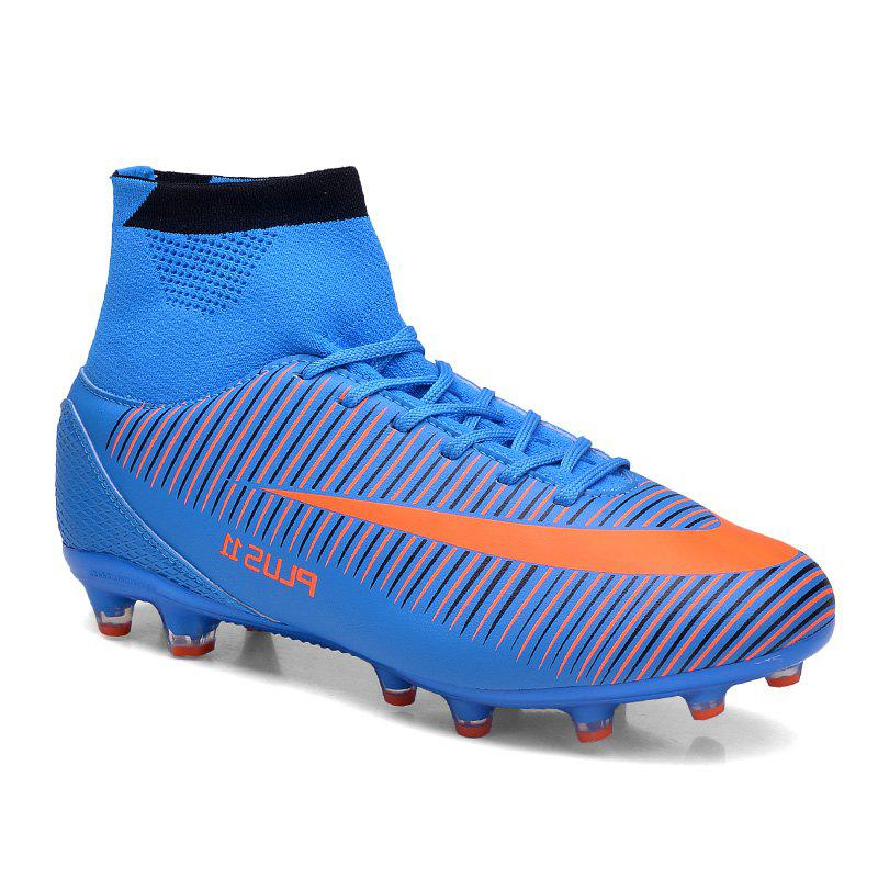 Men's Sports Shoes Color Block Comfort Breathable Leisure Football Shoes - BLUE 43