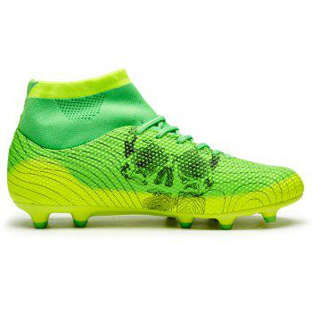 Men's High Top Soccer Cleats Football Boots Shoes - GREEN GREEN