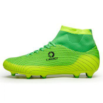 Men's High Top Soccer Cleats Football Boots Shoes - GREEN 44