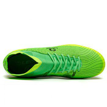 Men's High Top Soccer Cleats Football Boots Shoes - GREEN 41