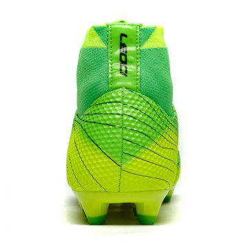 Men's High Top Soccer Cleats Football Boots Shoes - GREEN 39
