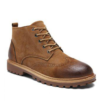 Martin Male Retro Bullock Tide British High-Top Leather Boots