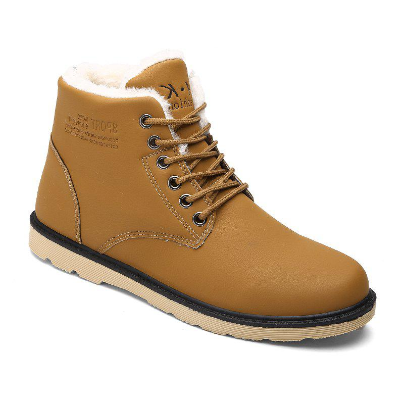 Men's Boots High Quality Warm Casual Stylish Boots - KHAKI 44