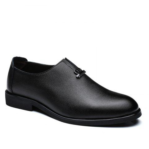 Men's  Shoes Business Durable Pointed Toe Formal Shoes - BLACK 38