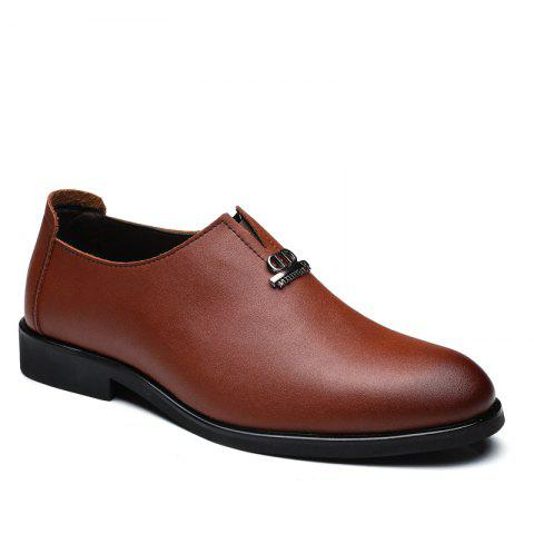 Men's  Shoes Business Durable Pointed Toe Formal Shoes - BROWN 44