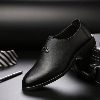 Men's  Shoes Business Durable Pointed Toe Formal Shoes - BLACK 43