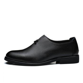 Men's  Shoes Business Durable Pointed Toe Formal Shoes - BLACK BLACK
